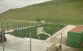 UEFA foundation for Children help build a new pitch for the under privileged children of Madrid